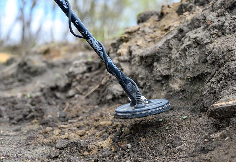 dispositivo detector Electrónico de metales de bobina para buscar un tesoro en el fondo del suelo (2)